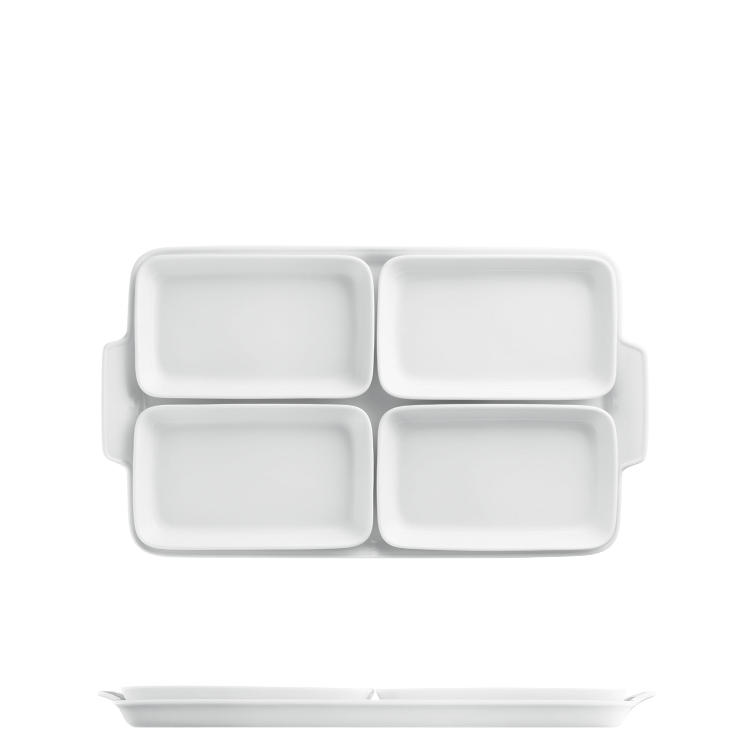 Partitioned dish, 5 pieces