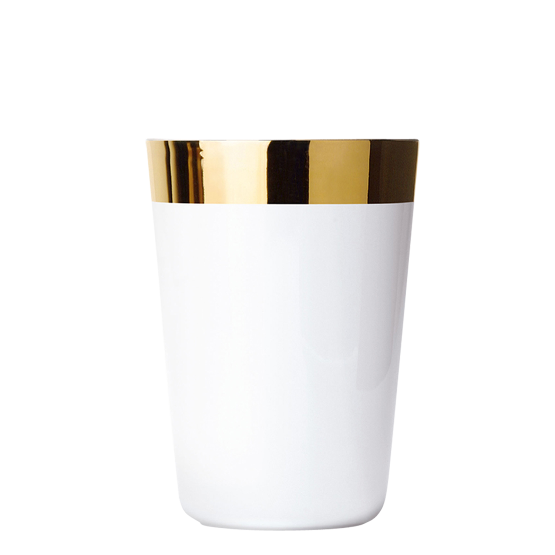 Water beaker white, smooth
