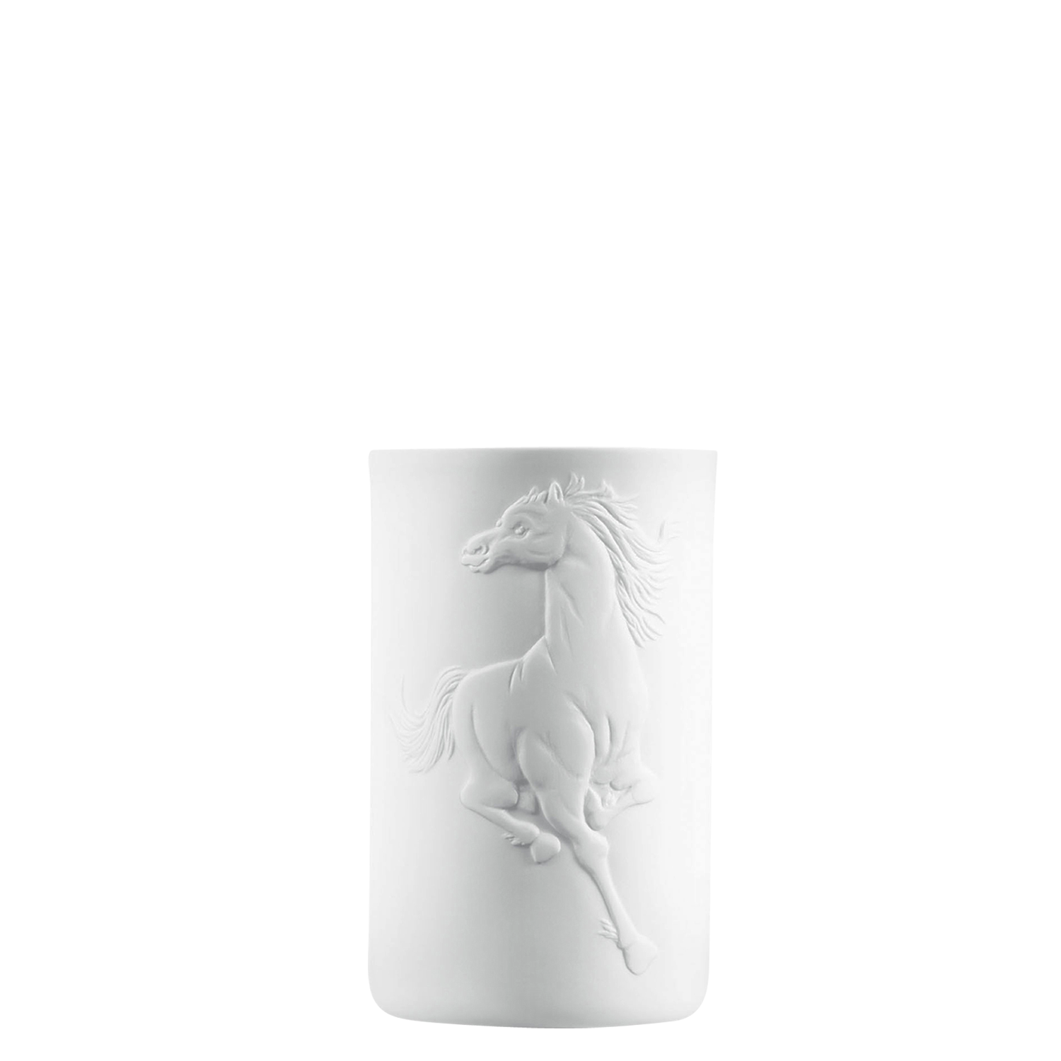 Mug double-walled (relief horse)