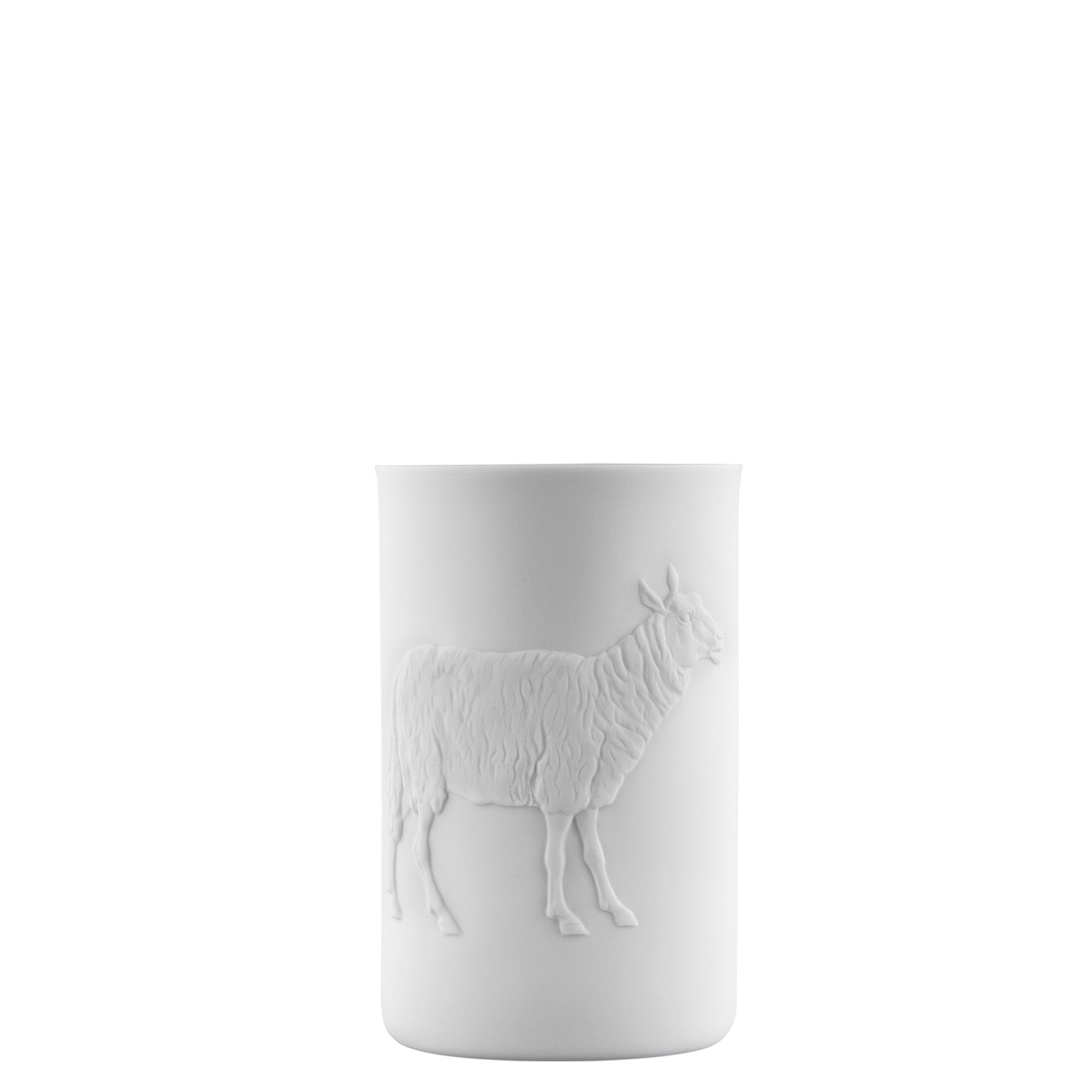 Mug double-walled (relief sheep)