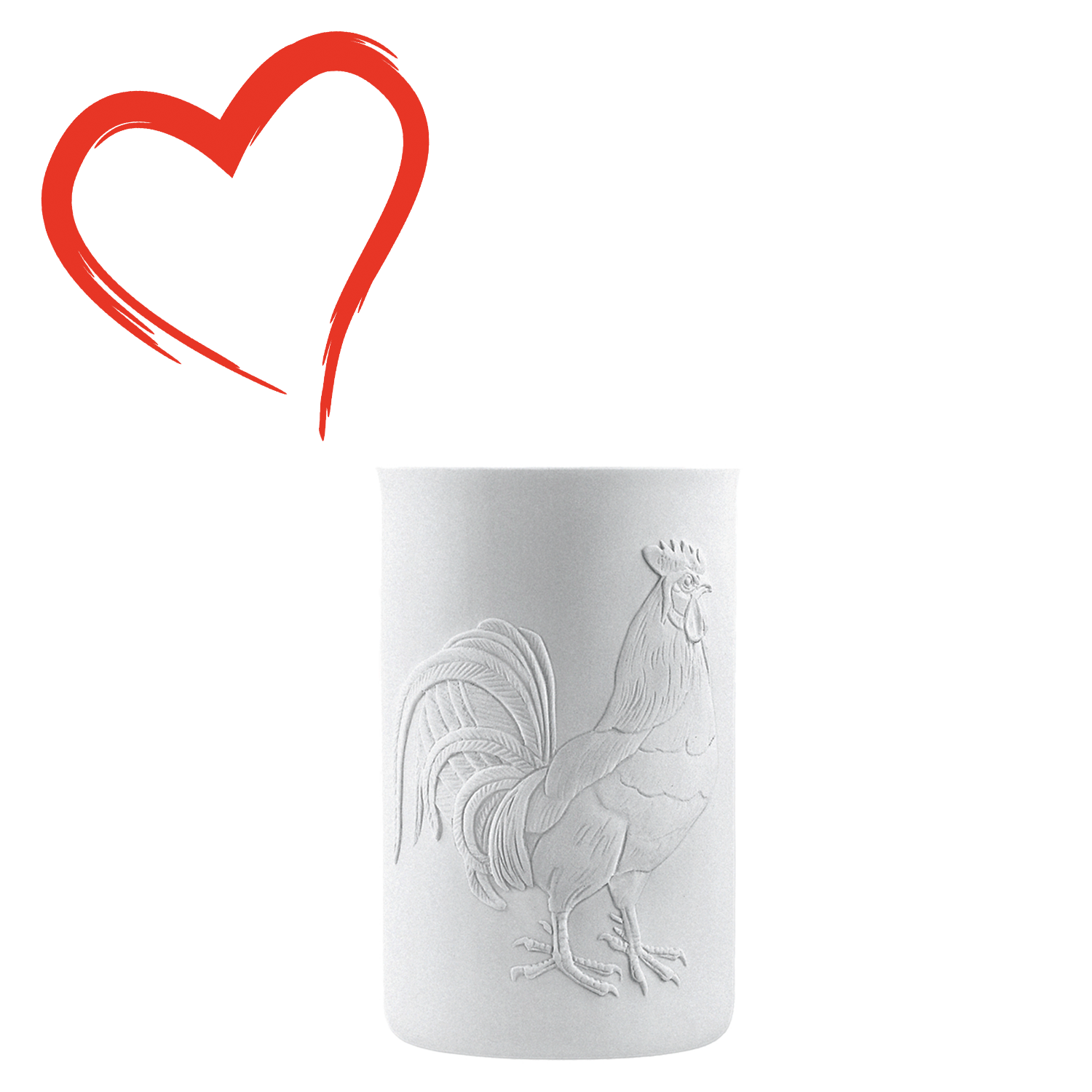 Mug double-walled (relief rooster)