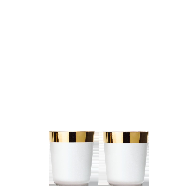 2 Digestifbecher White im Set, Plain, glatt