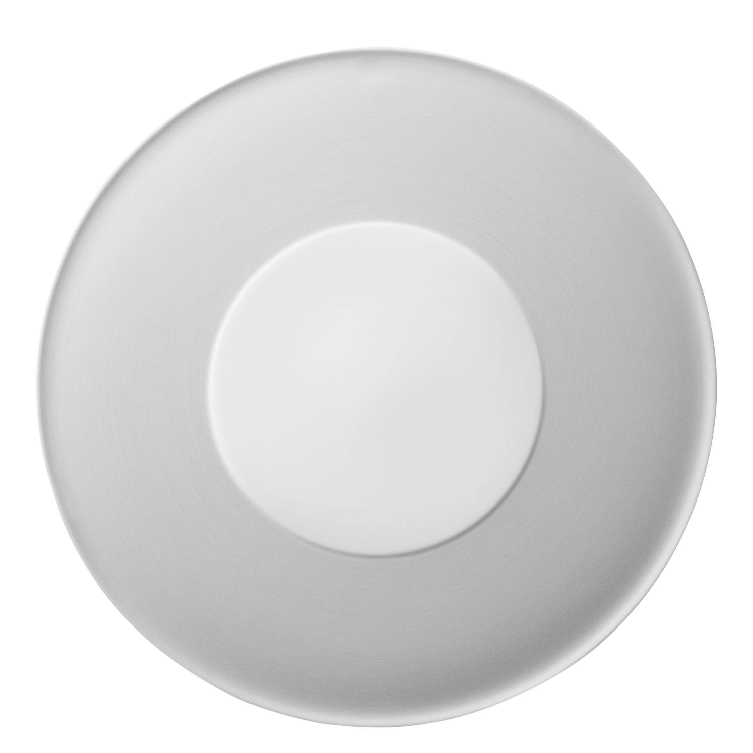 Plate flat with raised center part