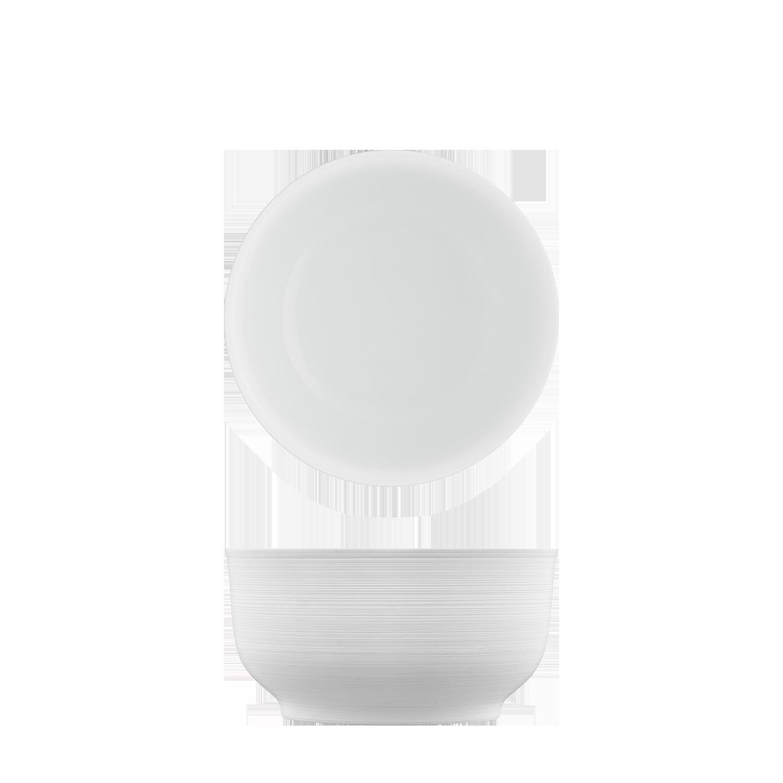 Schale weiß, doppelwandig