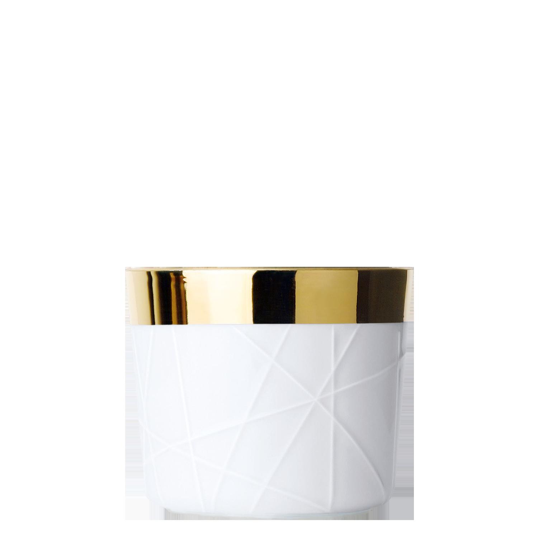 Champagne goblet white, rode embossed