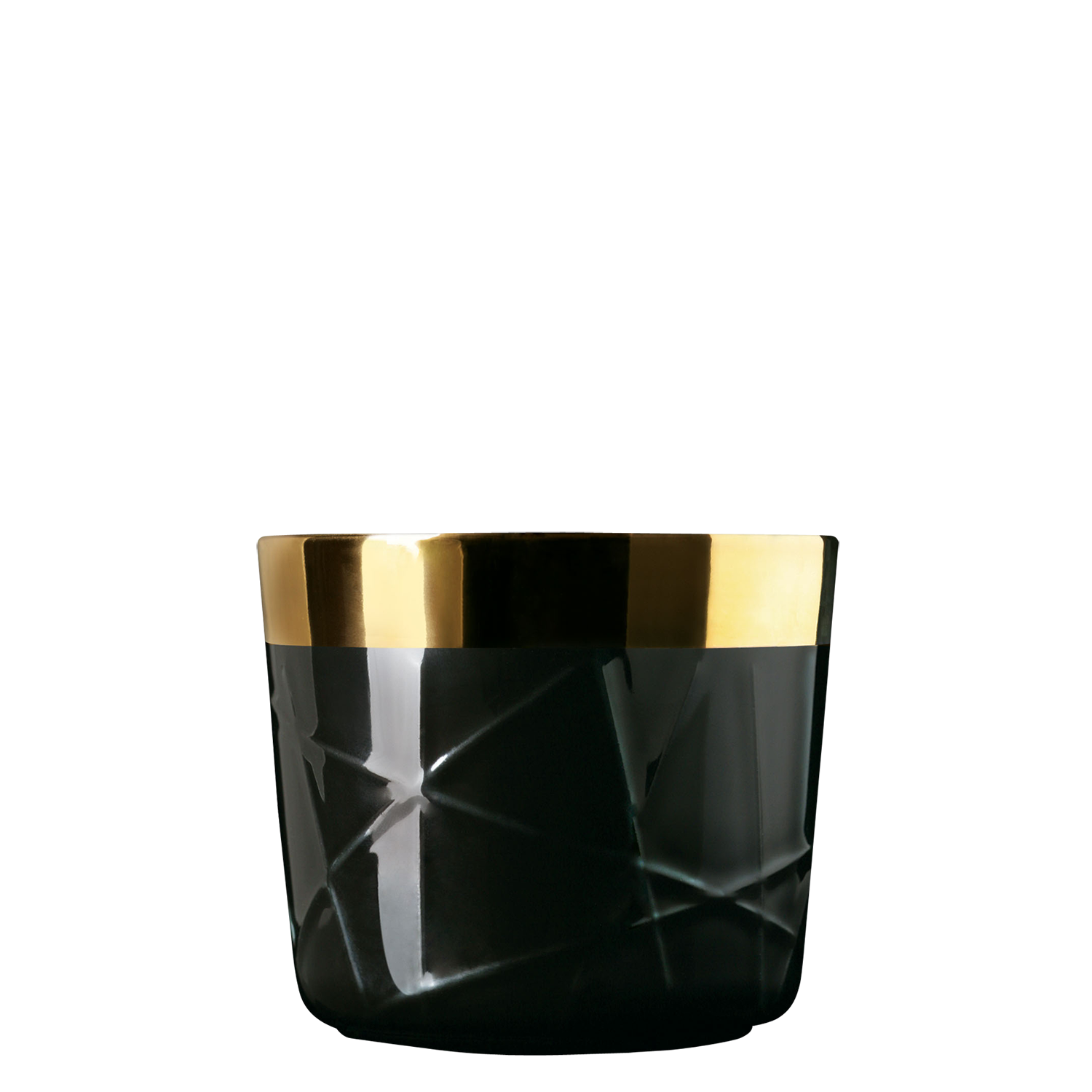 Champagne goblet, black, rod embossed