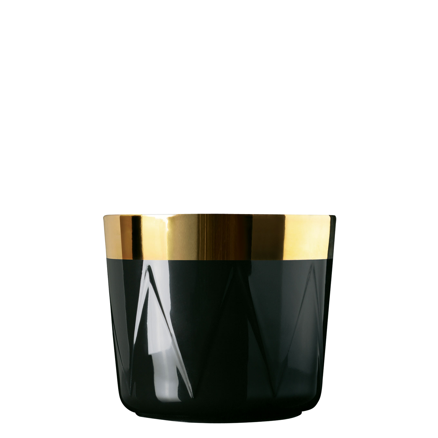 Champagne goblet, black, drum-pattern relief