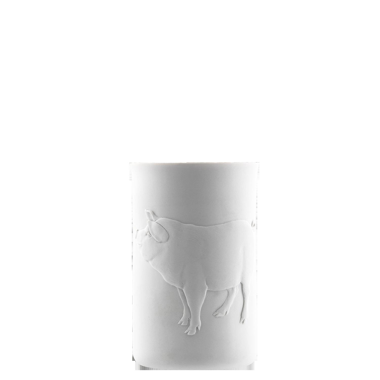 Becher doppelwandig (Relief Schwein)