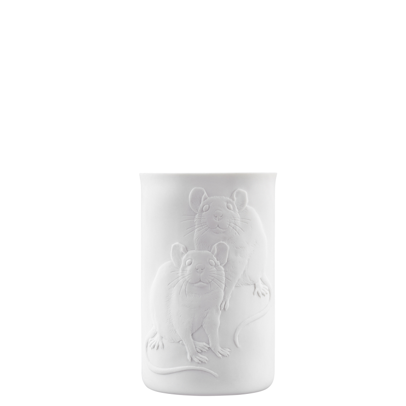 Mug double-walled (relief rat)
