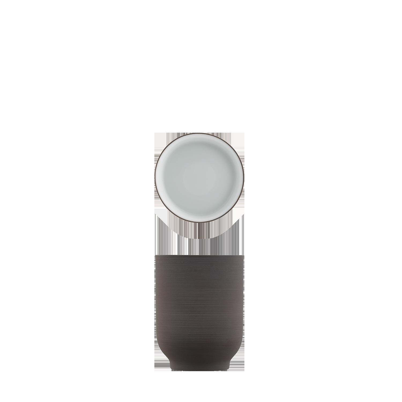 Becher dunkelbraun, doppelwandig