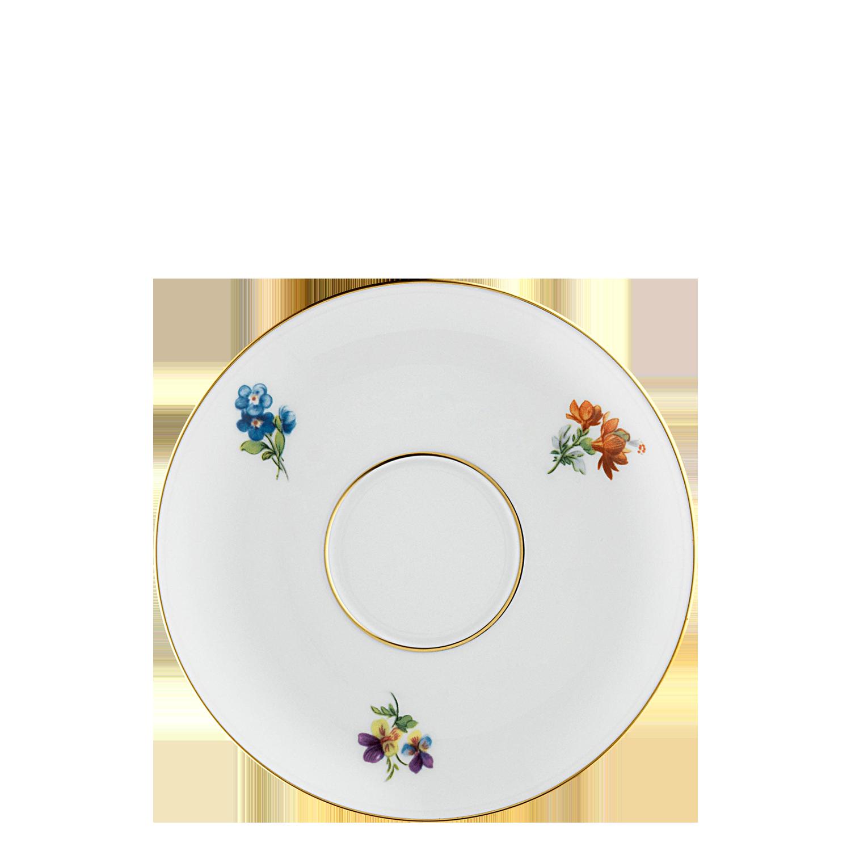 Tea saucer with insert