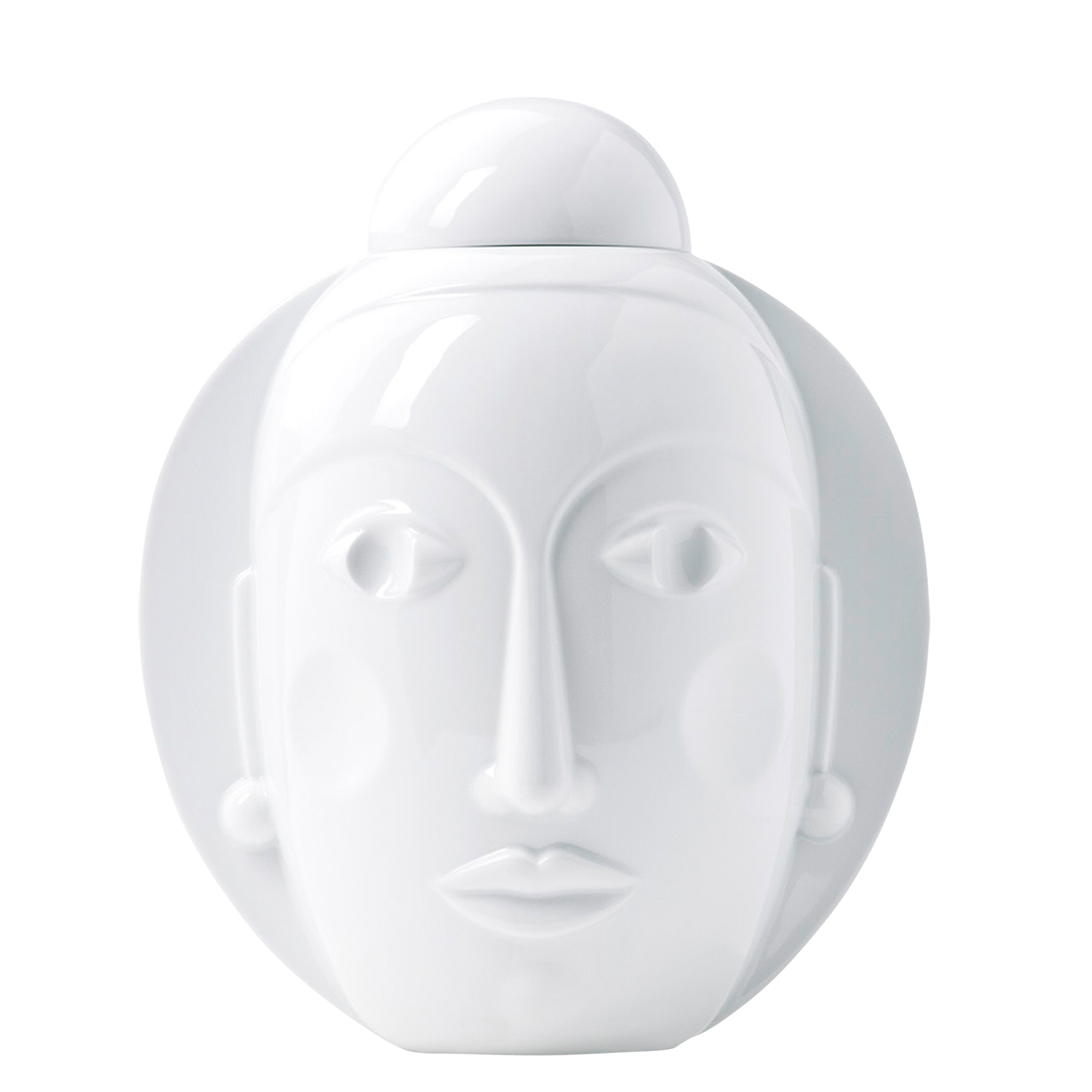 Lidded vase SECRET, white