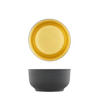 Bowl, anthracite, gold, double-walled