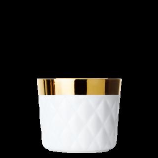 Champagne goblet white, diamond embossed