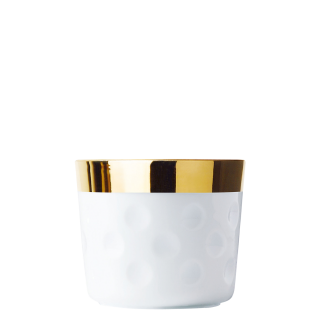 Champagne goblet white, dot-pattern relief