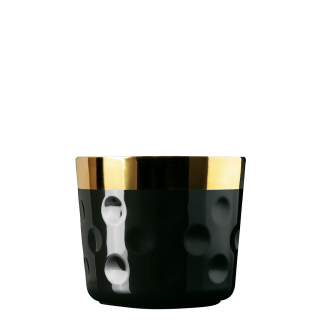 Champagne goblet, black, dot-pattern relief