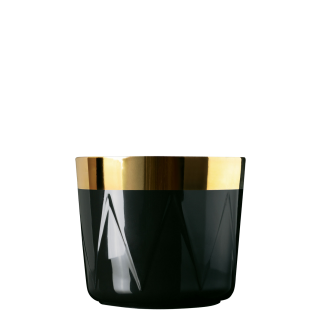 Champagnerbecher Noir, Circus, Trommelrelief