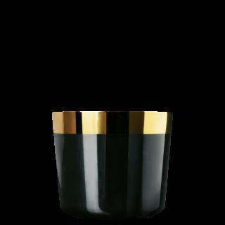 Champagne goblet black, smooth