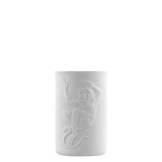 Mug double-walled (relief monkey)