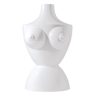 Vase THE BODY, white