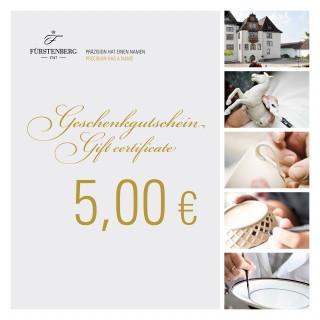 Geschenkgutschein 5,00 EUR