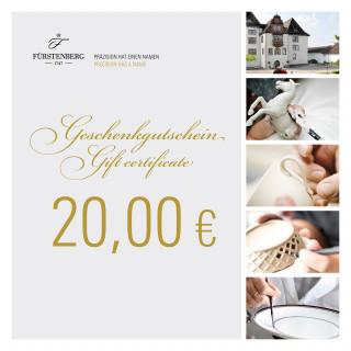 Geschenkgutschein 20,00 EUR
