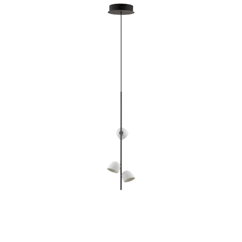 Pendelleuchte Anthrazit - 3 LED