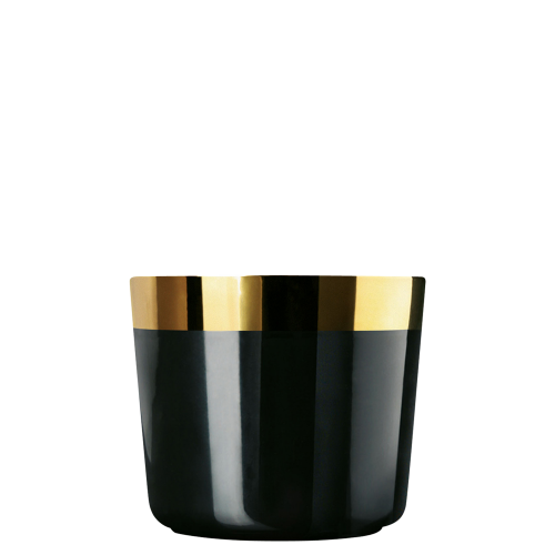 Champagne goblet, black, smooth