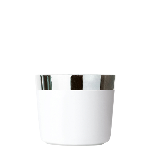 Becher White Platinum, Plain, glatt