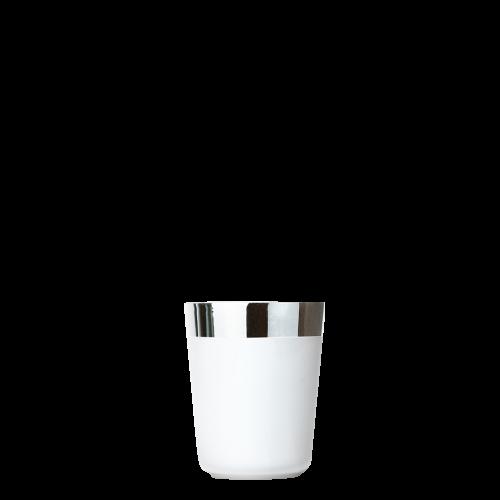 Wodkabecher White Platinum, Plain, glatt