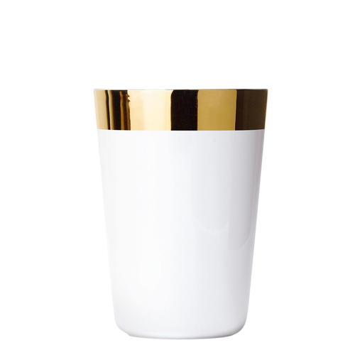 Wasserbecher White, Platin, glatt