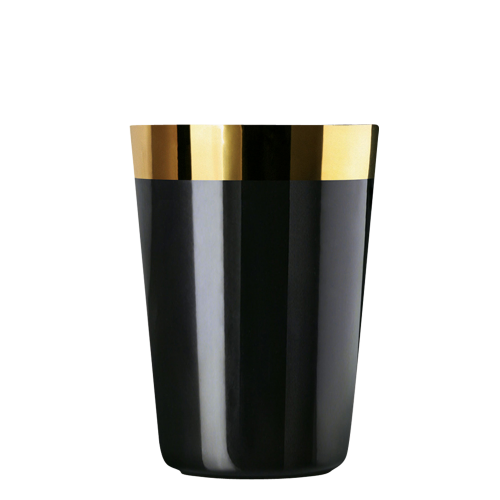 Wasserbecher Noir, Plain, glatt