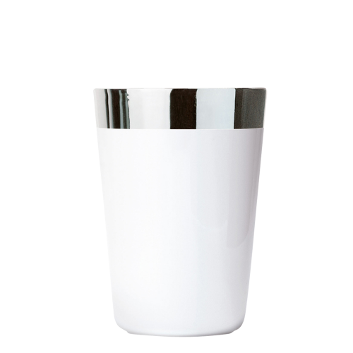 Wasserbecher, White Platinum, Plain, glatt