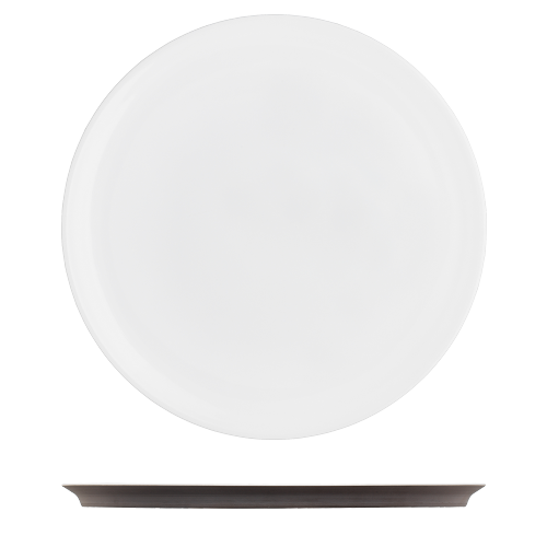 Dinner plate dark brown