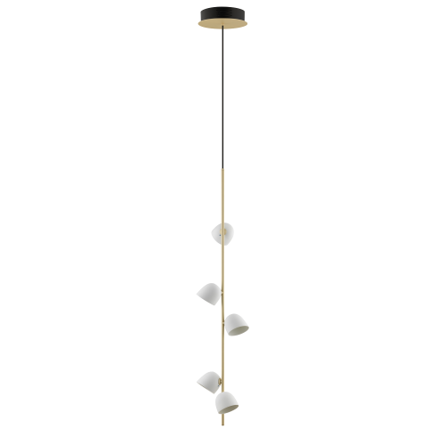 Pendant lamp champagne - 5 LED