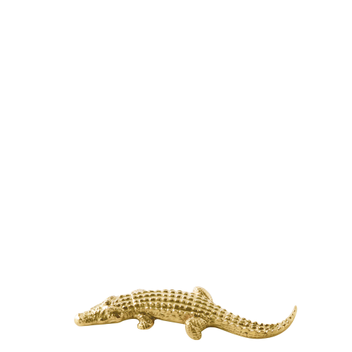Knife rest crocodile, gold
