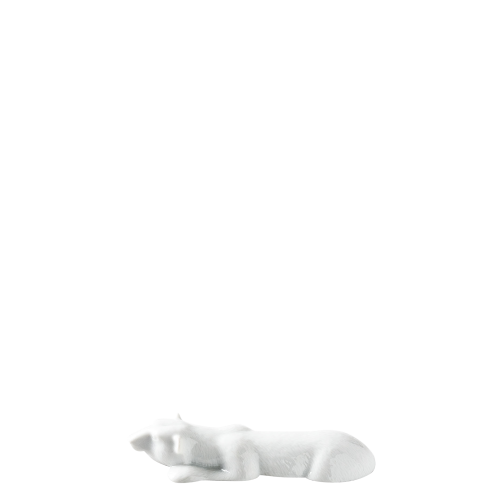 Knife rest polar bear, white