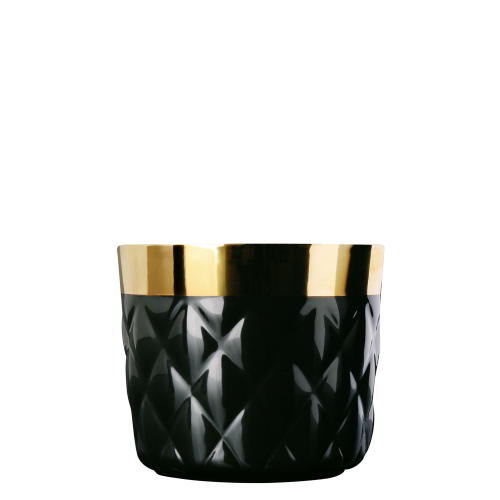 Champagne goblet, black, diamond embossed