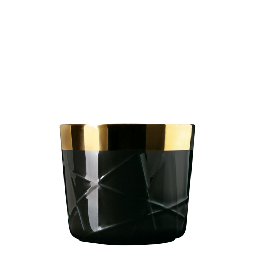 Champagne goblet, black, rod embossed