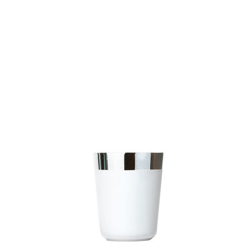 Vodka cup white platinum, smooth