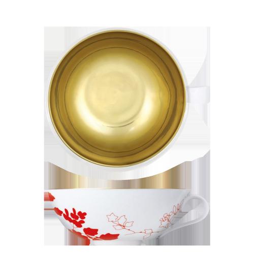 Teeobertasse innen vergoldet