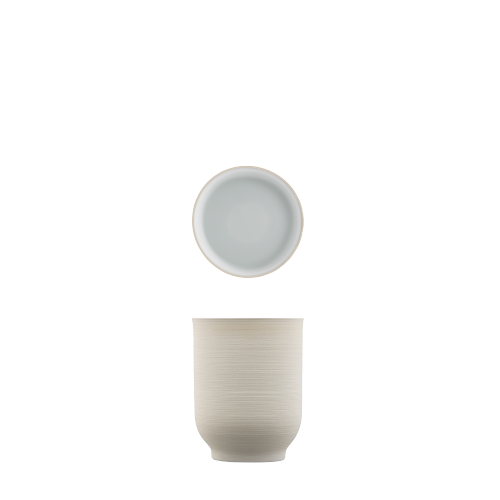 Mug light brown, double-walled