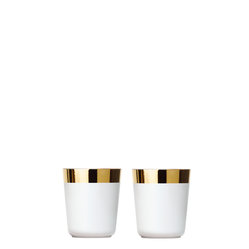 2 Digestif cups white, smooth