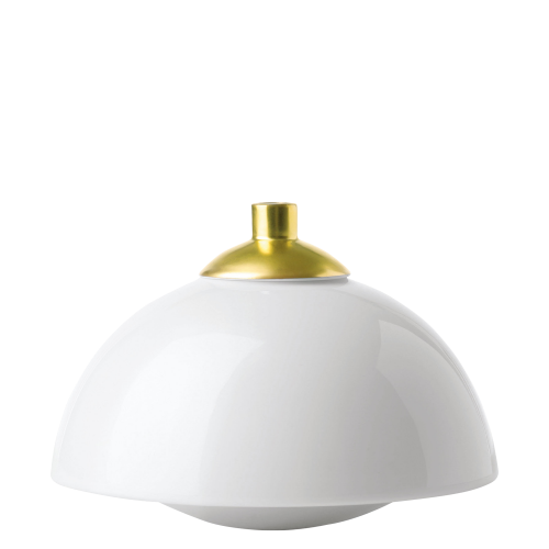 Vase SEDUCTION, white/gold