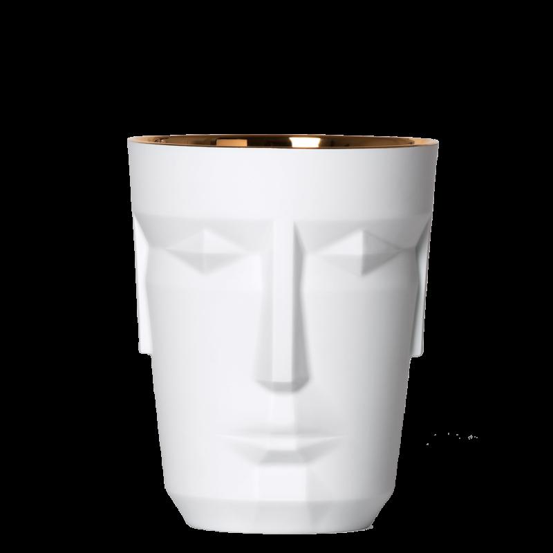 Ice Bucket PROMETHEUS, MATTSATINIERT, gold