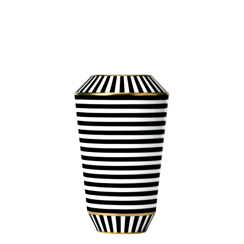 Vase LUNA, black/gold