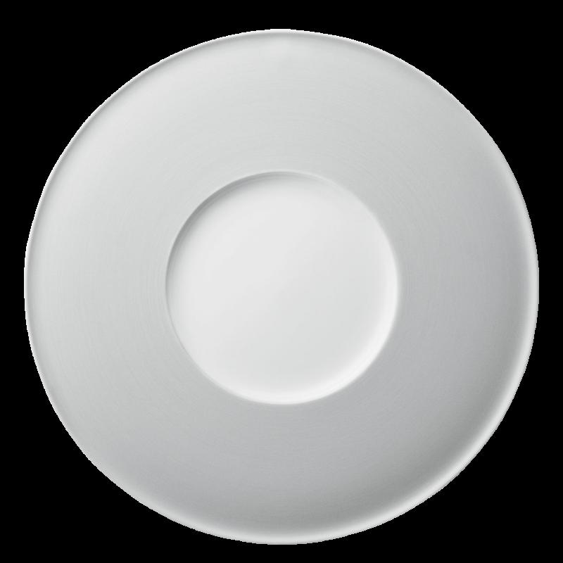 Plate flat with deep center part