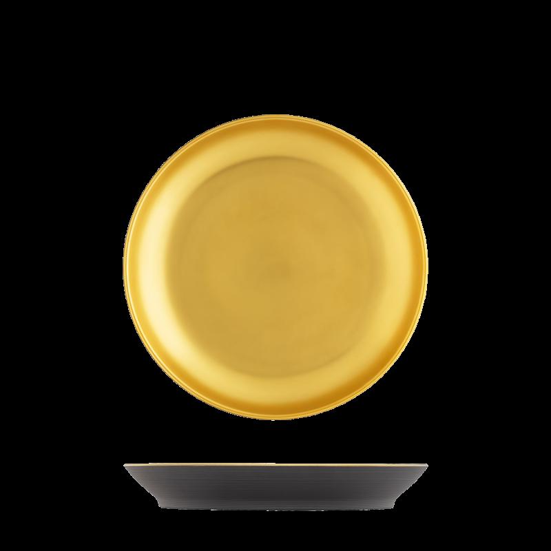 Frühstücksteller anthrazit, gold