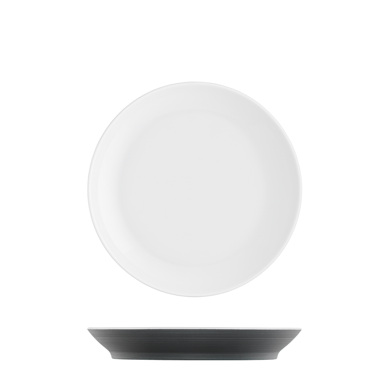Breakfast plate anthracite