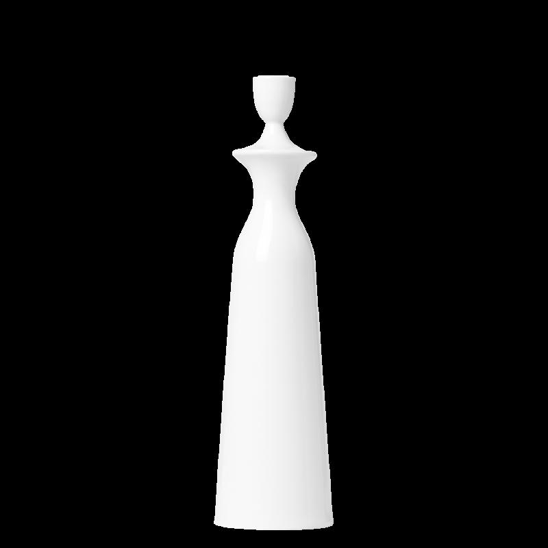 Candleholder CHARLOTTE, white